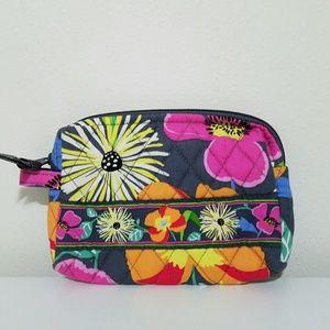 Vera Bradley Bags - Vera Bradley Cosmetic Makeup Case Bag Pouch Gray